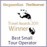 Guardian Travel Awards Winner 2011