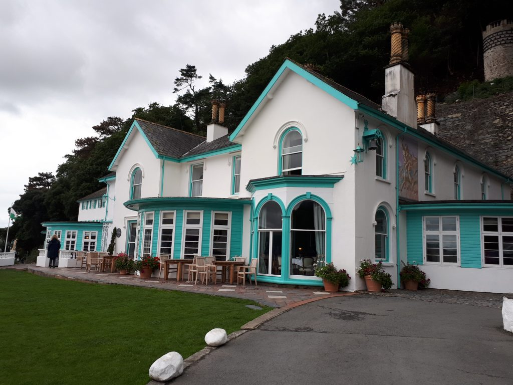 The pastel colours of the Portmeirion hotel