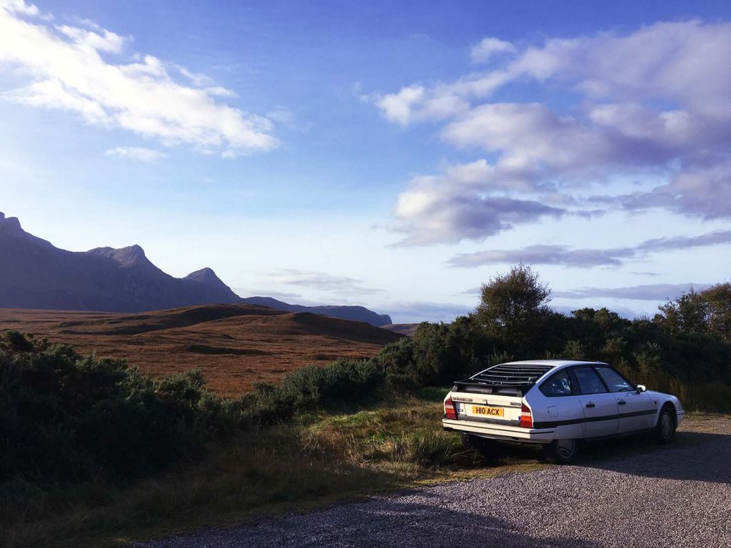 Citroen CX along the North Coast 500