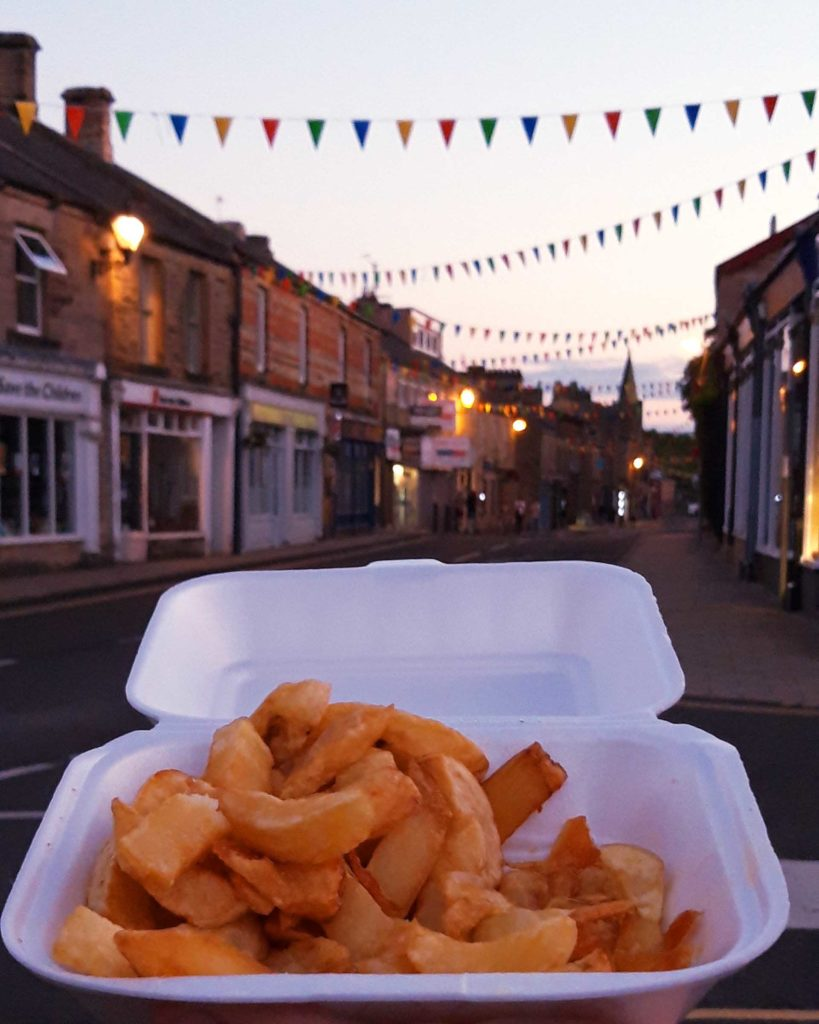 Some fresh chips in Haltwhistle