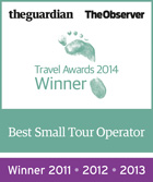 Guardian/Observer Travel Awards winner