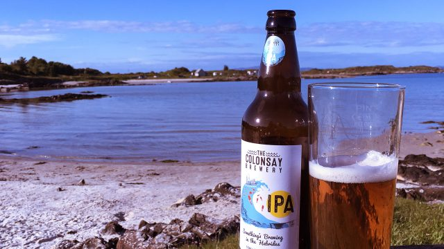 Colonsay beer on Gigha