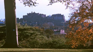 Views towards the iconic Edinburgh Castle