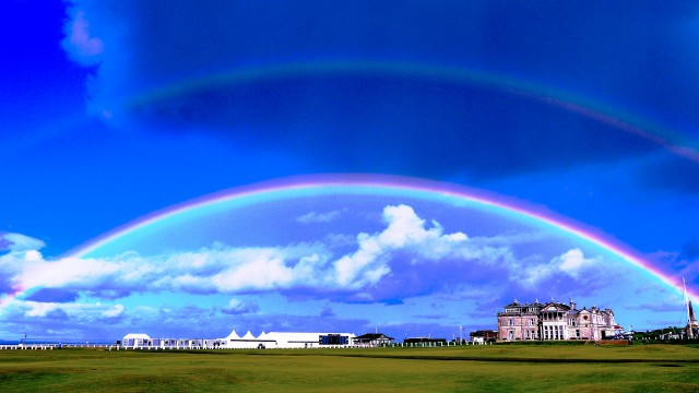 Double rainbow over St Andrews