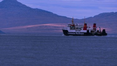 Islay ferry with Jura in the distance