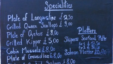 Sample seafood delights in Kintyre