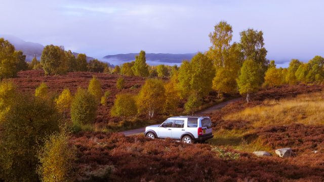 Enjoy the views from the comfortable Landrover Discovery