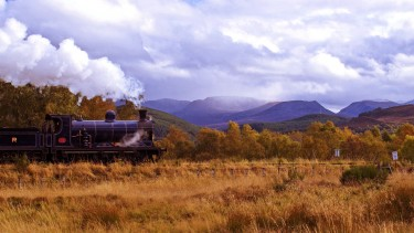 Enjoy a journey on the Strathspey steam railway