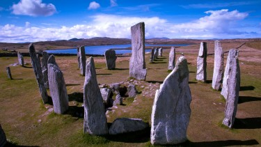 The eerie standing stones at Calanais on Lewis