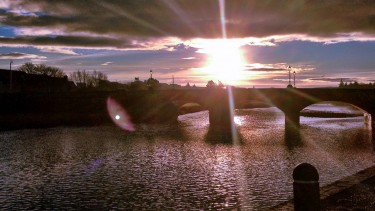 Sunset across Thurso