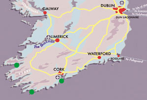 Map Discover Cork and Kerry
