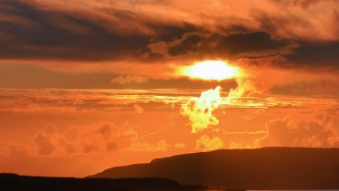 Dramatic sunset from Mull