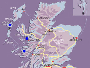 Map Hebridean-Wildlife