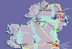 Map Irish Whiskey Trail