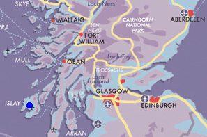 Map Islay-Fly-Drive