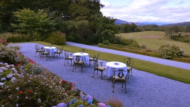 Inverlochy Castle terrace and views