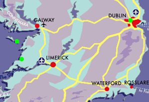 Map Irish Luxury Honeymoon