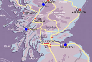 Map Luxury-Scottish-Honeymoon