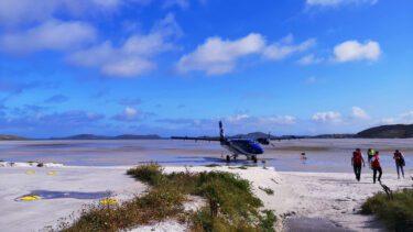 Plane Landing, Barra, Outer Hebrides