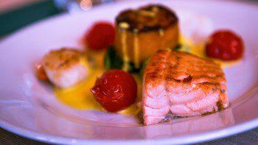 Fresh seafood on board