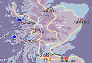 Map Mull & Skye
