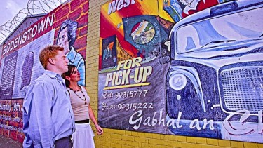 See the murals and learn about Belfast's troubled past on a private taxi tour