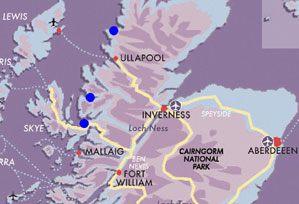 Map Northwest-Highland-Exp
