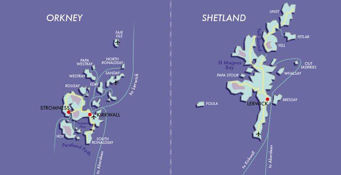 Map Orkney-&-Shetland
