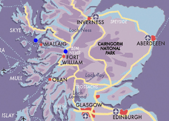 MAP Premier West Highland Line Skye