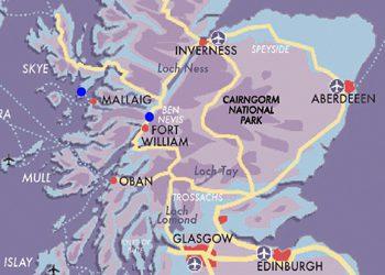 MAP Premier West Highland Line Skye