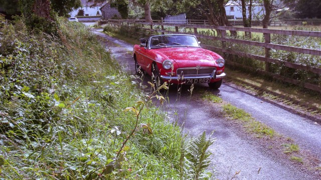 Experience Ireland's glorious scenery in a sleek MGB