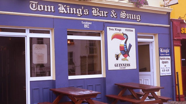 One of Clifden's several bars