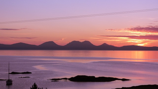 Sunset over Jura from Kintyre