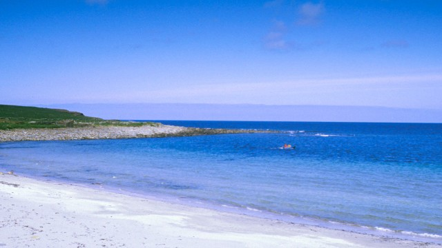 Secluded beach on Orkney