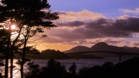 Sunset over the Skye bridge
