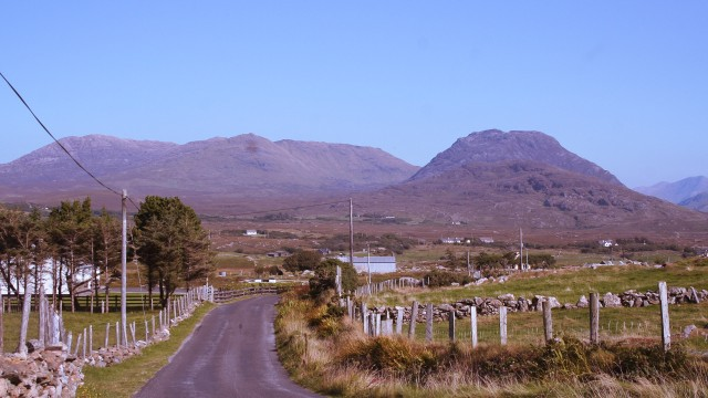 Scenic views on the Connemara loop