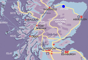 Map Speyside-Whisky-Short-Break