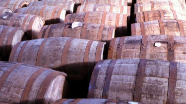 Whiskey barrels at Bushmills