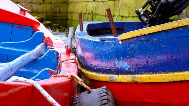Colourful Galway boats