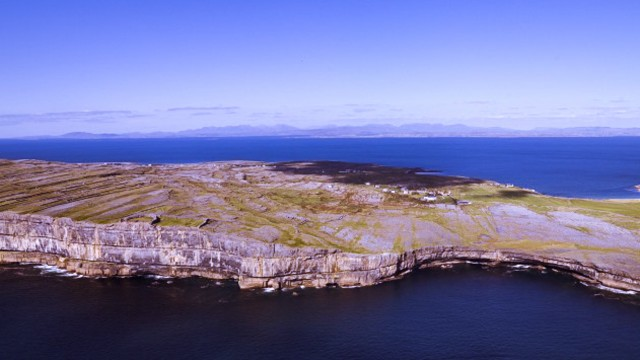 Inís Mór islands from air