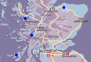 Map The Scotch Whisky Trail