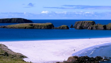 Tombolo beach at St Ninian's, Shetland