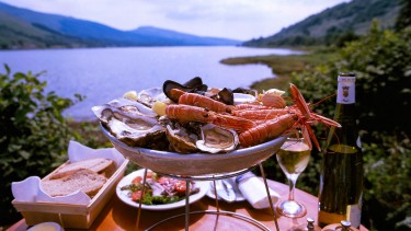 Why not indulge in some fresh seafood overlooking Loch Fyne?