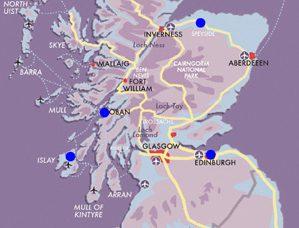 Map Whisky-Explorer-Escorted Journey