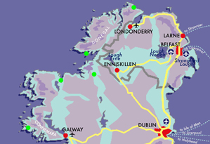 Map Connemara Donegal