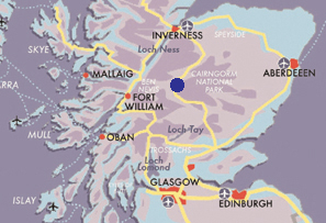 Map cairngorms wildlife