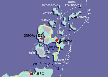 Map Orkney
