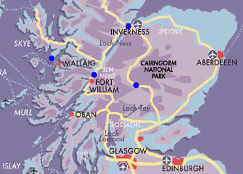 Map Round Scotland by Train