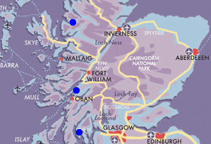 Map Scottish Seafood Trail