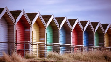Beach huts in Northumberland